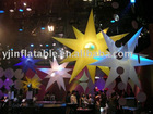 colorful inflatable lighting star decoration used in party/event