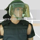 High Clear Viewing Glass Visor for Bullet Proof Helmet