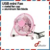 4inch mini metal USB Fan aluminum blade