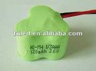 1/3AAA NI-MH battery 120MAH 3.6V