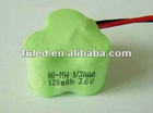 1/3AAA NI-MH battery 120MAH 3.6V