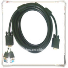 Good Quality black vga wire vga cable male to male 1.5meter 2 Ferrit for lcd crd monitor