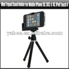 Mini Tripod Stand Holder For Mobile iPhone 3G, 3GS, 4, 4S, iPod Touch 4,YAP419A