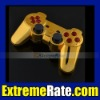 Polished Chrome Gold Replacement Housing/Shell For PS3 Dualshock 3 Controller With Red Inserts