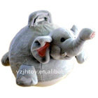 Bouncing Ball Toy,Kids Jumping Ball,Plush Light Grey Elephant Ball Toy