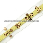Gold webbing sequin trims