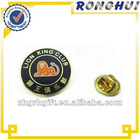 famouse club lapel pin with round shape