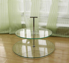 2 tier tempered glass cake stand tier