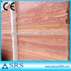 Red travertine tile and slab filled polished (good price)