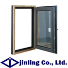 aluminum wood composited window french casement window doule glazed windows