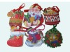 Christmas Hot Shopping Bag with Santa Claus,Christmas Tree,Snow design