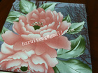 twill ployester brushed big flowery fabric