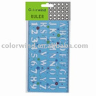 plastic stencil ruler