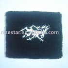 elastic wrist band with embroidery logo