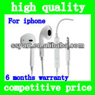 Hot Sell In-Ear High quality Earphone Headphone for iPhone5 &4/4sfor iPadFor iPod ,