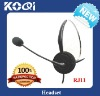 Hot sell phone Headset Direct with RJ11 plug