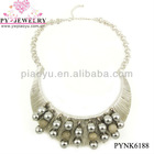 2013 Fashion Silver Plated Ladies Costume Necklace For Wholesale - PYNK6188