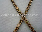 High quality popular golden polyester lanyard