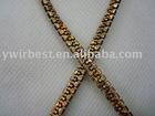 High quality popular golden polyester lanyard