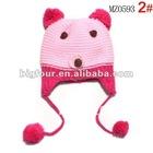 2012 Hot Knitted Bear Winter Earflap Kids Beanie Hat