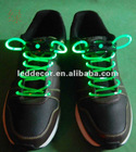 glowing lighted led shoelace with green led