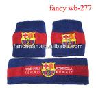 High quality embroidery wristband and headband set
