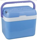 32L blue color with handle with cover mini fridge car fridge AC/DC operation portable mini fridge cooler warmer