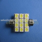 Festoon lamp ! 12smd led auto light