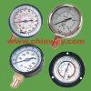 Oil filled pressure gauge and manometer