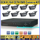 Hot 8CH H.264 Network CCTV DVR surveillance Camera System Security Kit