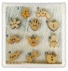 DIY carved animal wooden buttons