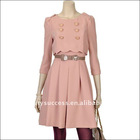 100% Polyester Fashion Ladies' career Dresses