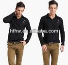 European style fashion long sleeve men's slim T-shirt