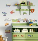 2012 hot transportation wall paper sticker