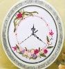 hanging digital handicraft ribbon embroidery diy clock wall