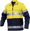 fashion cotton women safety shirts lady safety shirts High Visibility Work Blouse Uniform