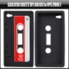 Black Retro Cassette Tape Skin Case for Apple iPhone 4,YAP302A
