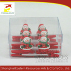 Poly Christmas Snowman Clip Set