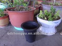 wholesale black plastic flower pots with hole