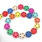 New multicolor circle within stars loose fancy beads exotic jewelry can DIY for necklace and bracelets 111728