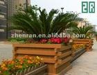 Pest-resistant wood plastic composite (WPC) flower box for garden/roadside