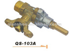 0degree single spray brass gas cooker valve-gas plug valve