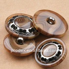 classic colorful polyester resin buttons with thin rim