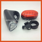plastic front and tail led bicycle light (HT-BL022)