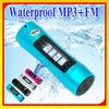LCD Waterproof mp3 player and swimming FM Radio2GB/ 4GB / 8GB