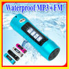 LCD Waterproof mp3 player and swimming FM Radio2GB/ 4GB / 8GB