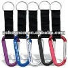 Durable metal aluminum carabiner strap and key ring