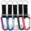 Durable metal aluminum carabiner strap and key ring