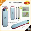Latest 5 In 1 Stationery Set (Ballpiont pen,Pencil,Highlighter)