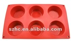 6 Round shaped Silicone Cake Mould